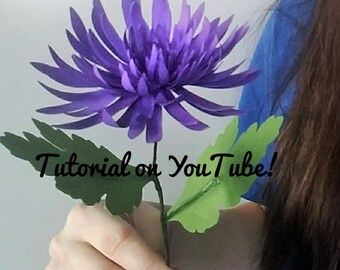 TEMPLATE! Realistic Paper Spider Mum Flower/2 PDF files