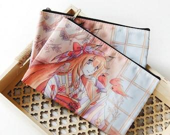 Kimono Kitsune Zipper Bag