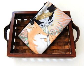 Sworn Sword Wolf Shiba Zipper Bag