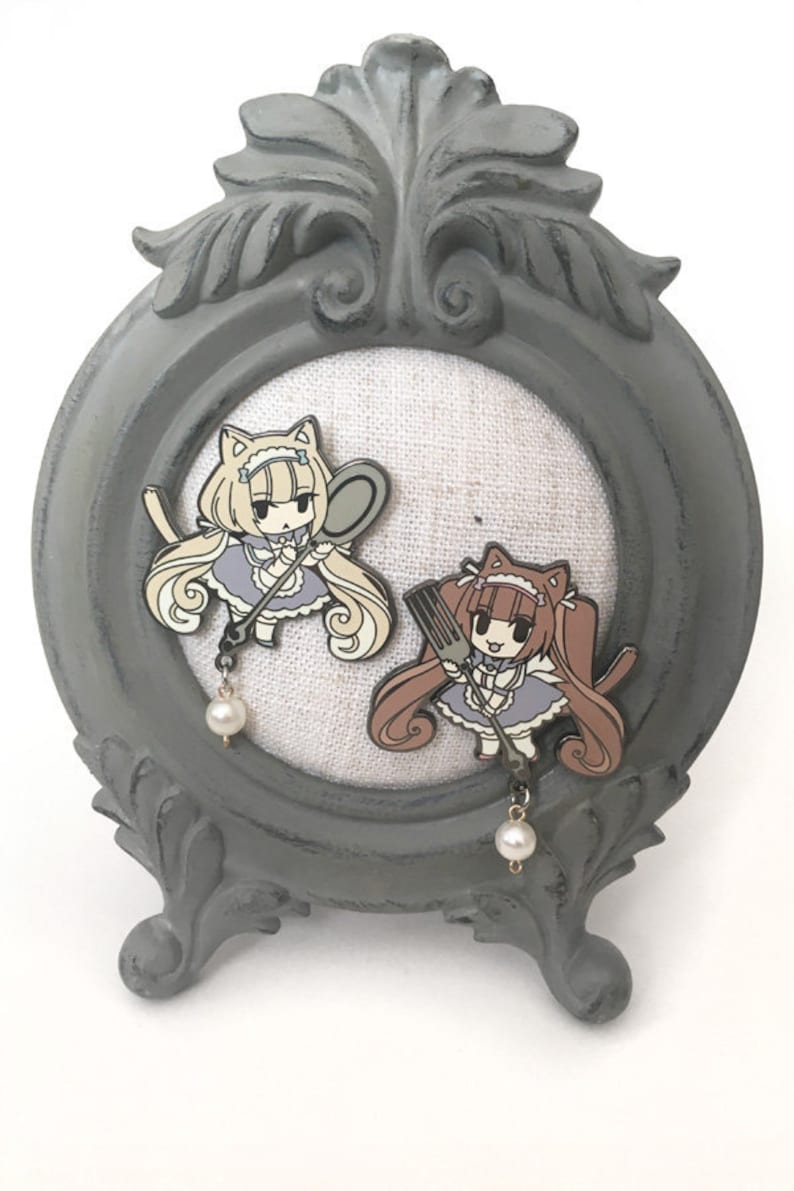 Nekopara Chocola Vanilla pin Cat Girl Maid Pin Nekomimi image 0