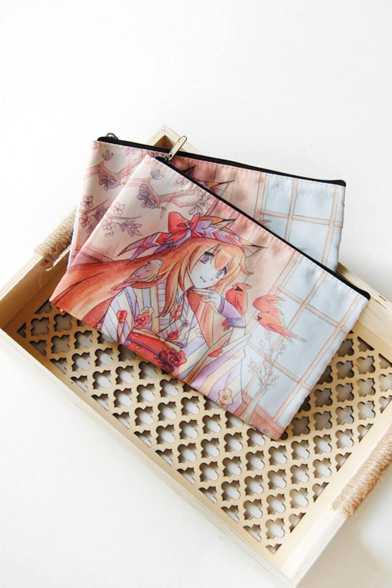 Kimono Kitsune Zipper Bag image 0
