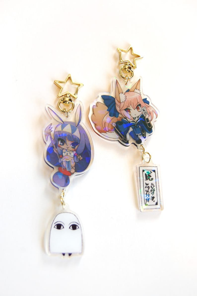 Fate Grand Order Tamamo no Mae Nitocris Keychain FGO Arcylic image 0