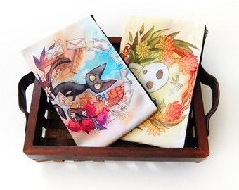 Jiji and Kodama Studio Ghibli Homage Zipper Bagg