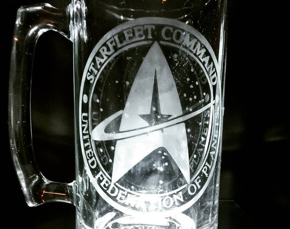 Star trek engraved mug