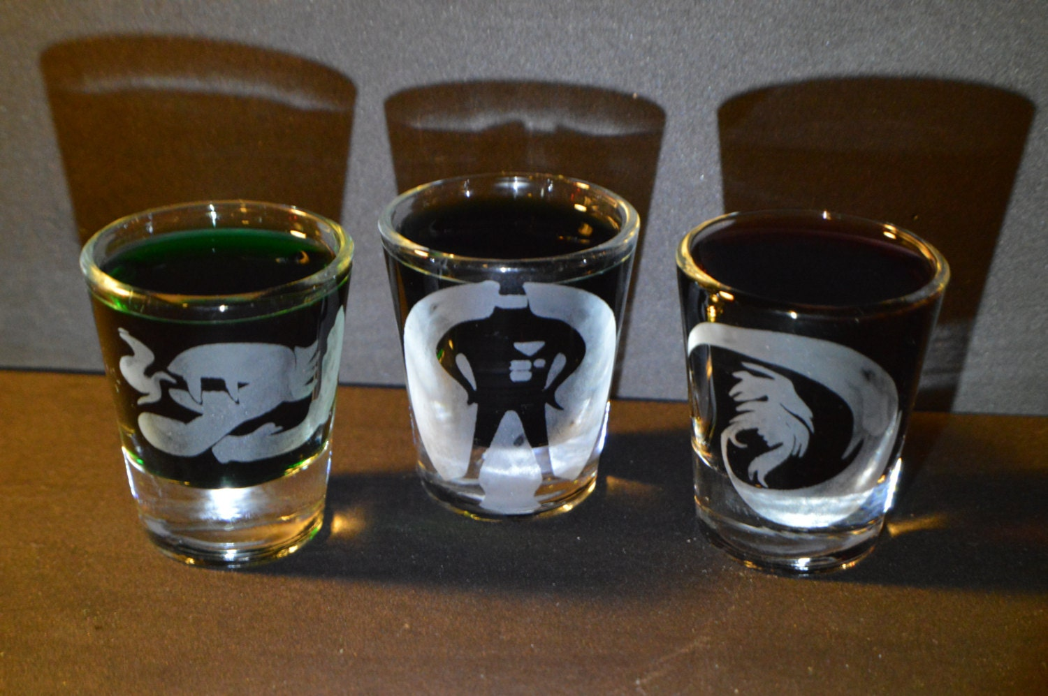 Earthbound etched shot glass set of 3 fan art