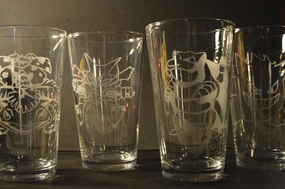 Any pokemon etched pub glass (One pub glass)