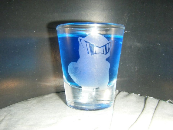 Squirtle Squad leader Etched shot glass Fan Art