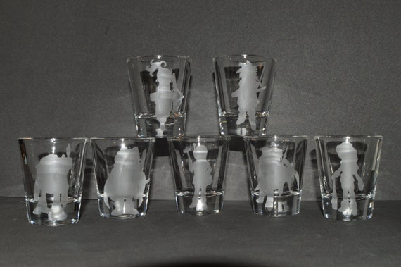 Chrono Trigger etched shot glass set of 7