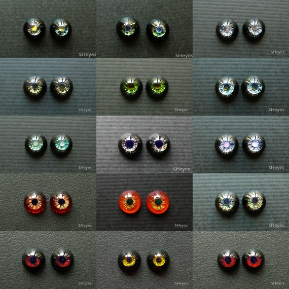 Red w// Black Pupils Acrylic Red Vampire 20mm Eyes for Reborn Unusual Doll