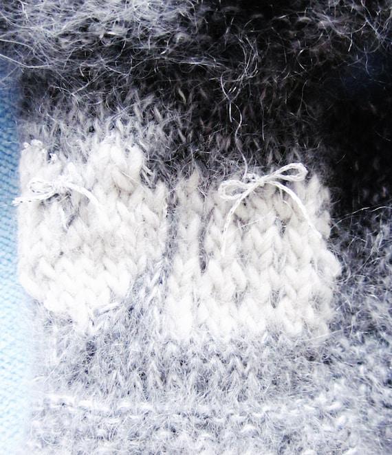 Punto de mohair gris cuello chimenea calentador gris gris | Etsy