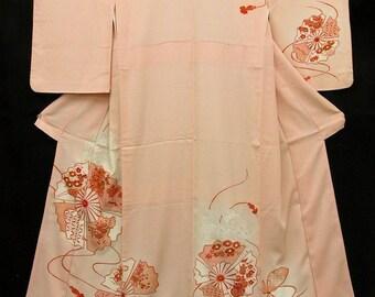 4583291a4e83 Japanese Kimono Robe   Vintage Silk Kimono Houmongi   Dressing Robe   121401