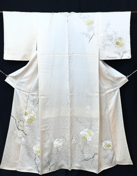 Japanese Silk Kimono Houmongi / Rinzu/ Vintage Sil