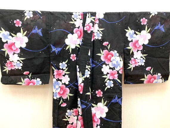 Japanese Vintage Kimono / Komon/ Kimono Dress/ Par