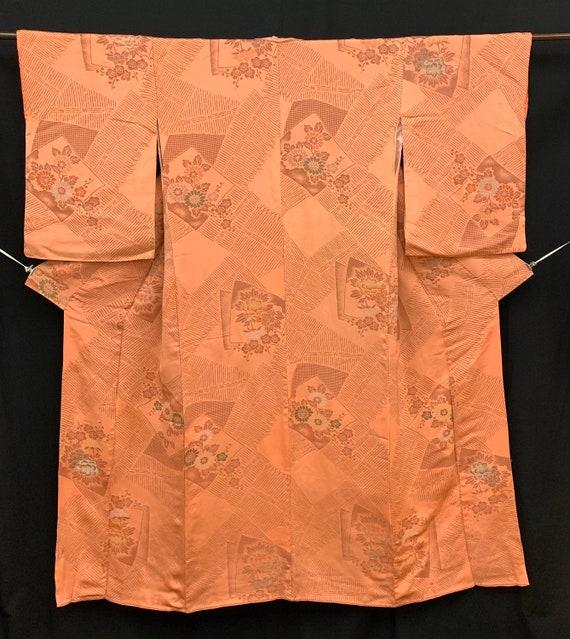 Japanese Antique Kimono Houmongi / Silk Kimono/ W… - image 5