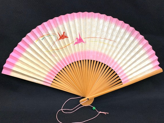 Japanese hand fan SENSU / Hand Painting/  Tea Cere