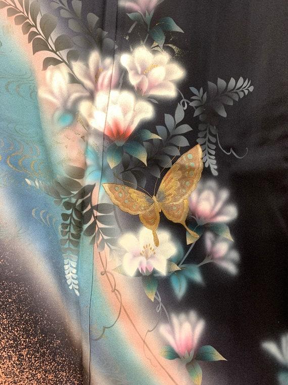 RARE!! Japanese Silk Kimono Houmongi / Vintage Sil
