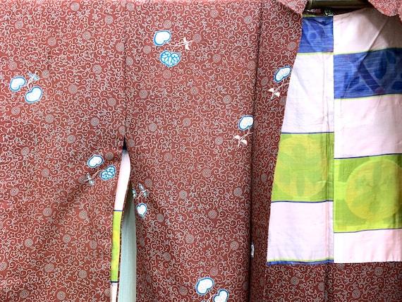 RARE!! Japanese Vintage Silk Kimono Haori Jacket /