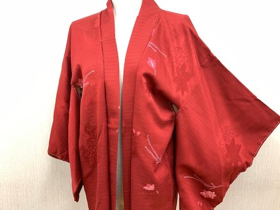 Japanese Silk Kimono Haori Jacket/ Sibori/ Silk ki