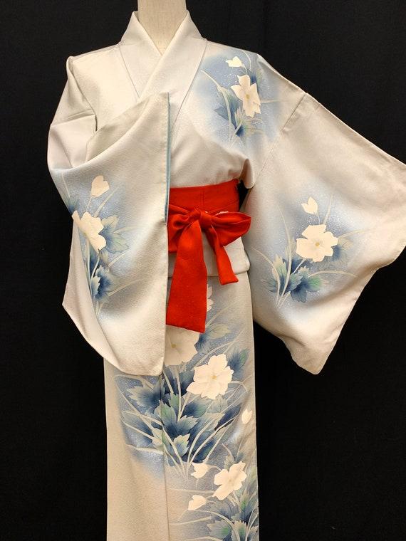High Quality!! Japanese Silk Kimono Houmongi/ Silk