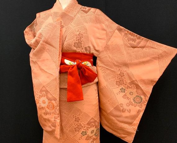 Japanese Antique Kimono Houmongi / Silk Kimono/ W… - image 1