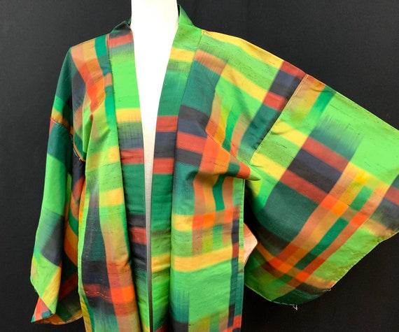 RARE!! Japanese Kimono Haori / OSHIMA TSUMUGI/ Sil