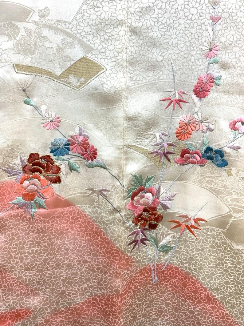 Japanese Kimono Haori Jacket RINZU Embroidery Silk kimono Jacket Kimono Cardigan  Short Kimono 120804