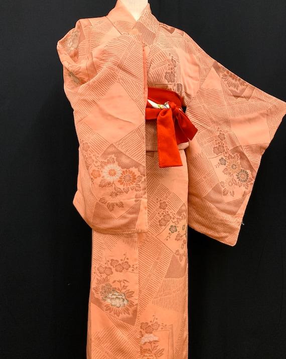 Japanese Antique Kimono Houmongi / Silk Kimono/ W… - image 7