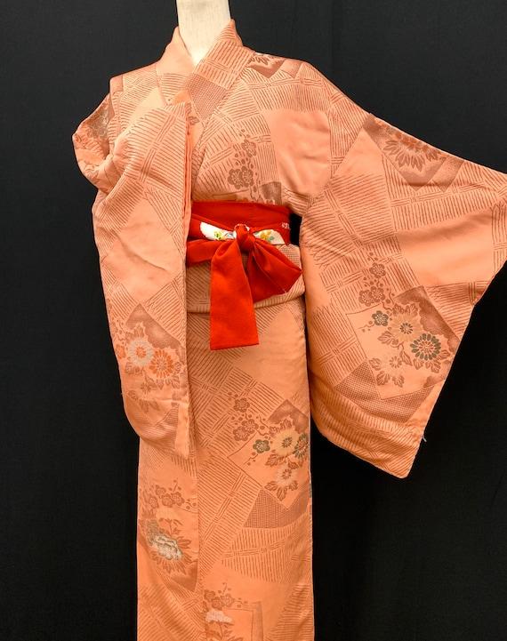 Japanese Antique Kimono Houmongi / Silk Kimono/ W… - image 6