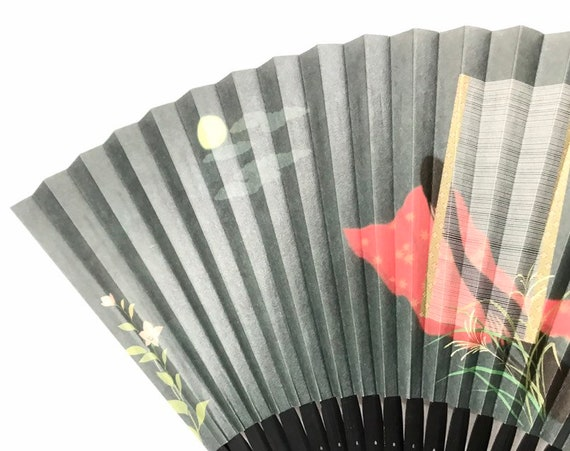 Japanese hand fan/ SENSU/ The tale of Genji/ Geish