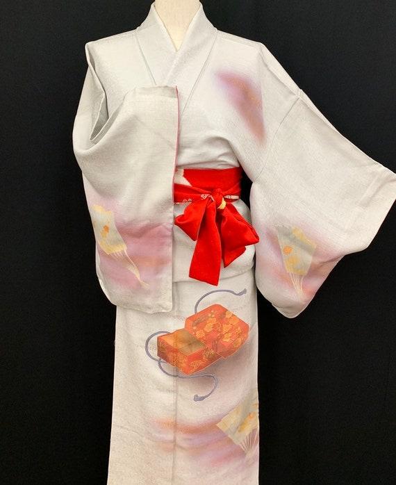 Japanese Kimono Robe / Vintage Silk Kimono Houmong