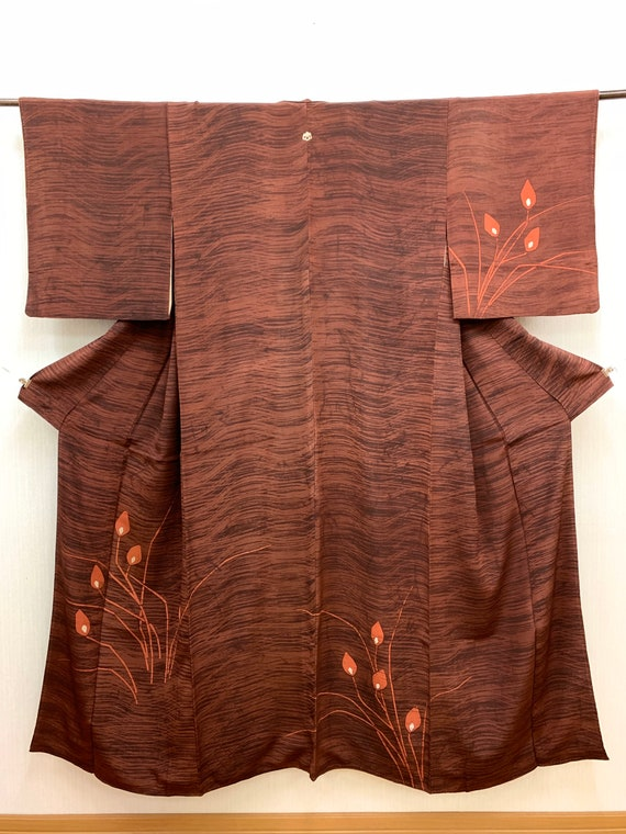 Japanese Kimono Robe / Silk Kimono Houmongi / Kimo