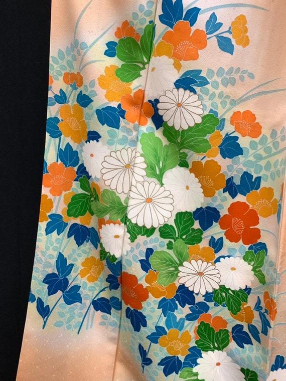 Japanese Kimono Houmongi/ Silk Kimono Dress / RINZ
