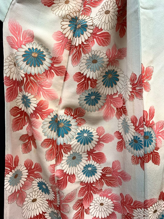 Japanese Silk Kimono Houmongi/ Vintage Silk Kimono