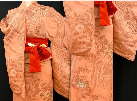 Japanese Antique Kimono Houmongi / Silk Kimono/ We