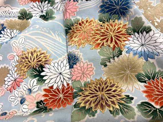 Gorgeous!! Japanese Silk Kimono Houmongi / Embroid