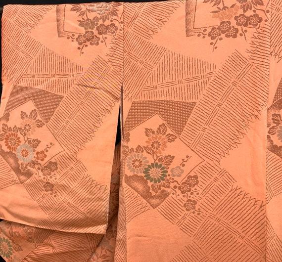 Japanese Antique Kimono Houmongi / Silk Kimono/ W… - image 8
