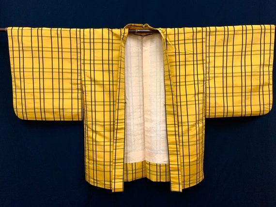 RARE!! Japanese Silk Kimono Haori / KIHACHIJO/ Sil