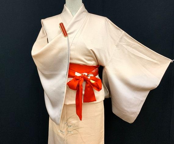 Japanese Kimono Robe / Unused Silk Houmongi / Dres