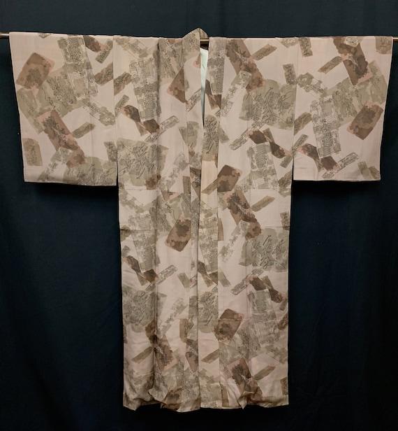 Japanese Men's Silk Kimono / Vintage Kimono Robe /