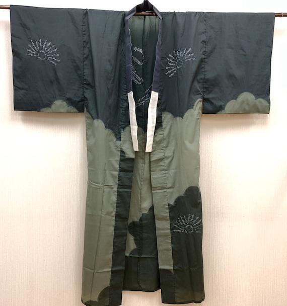 Japanese Silk Kimono / Vintage Kimono Robe / Samur