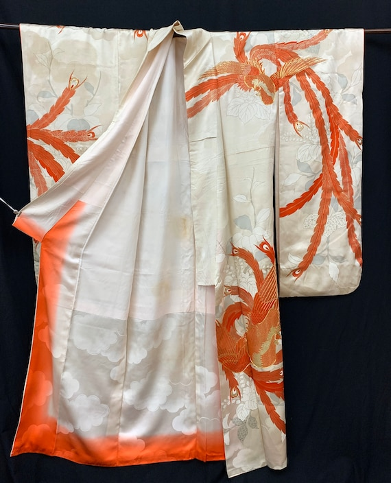 Japanese FURISODE Kimono/ Antique Silk Kimono/ Lo… - image 10