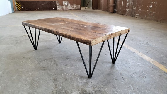 Industrial Modern Coffee Table Rustic Coffee Table Etsy