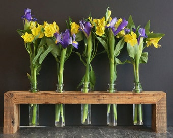 Vase, Centerpiece, Bud Vase, Wooden Bud Vase, Home Decor, kitchen decor, table decor, floral arrangement, Wedding, Bridesmaids' gift, rustic