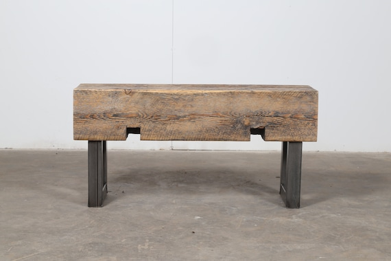 Strange Beam Bench Entryway Bench Narrow Bench Reclaimed Wood And Steel Bench Rustic Industrial Bench Timber Bench Modern Wood Bench Ibusinesslaw Wood Chair Design Ideas Ibusinesslaworg