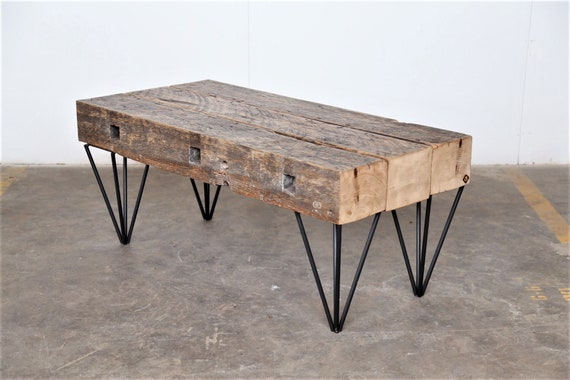 Excellent Rustic Coffee Table Beam Coffee Table Modern Industrial Coffee Table Reclaimed Wood Steel Table Timber Table Gamerscity Chair Design For Home Gamerscityorg