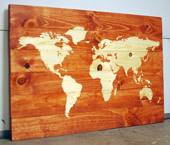 World Map On Wood Planks - awesomebryner.com