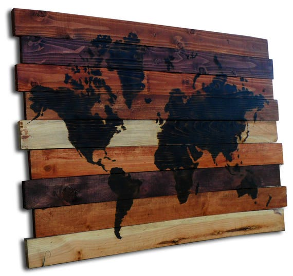Large World Map Wood Burning Art Pyrography Art Contemporary Art Compass  Wall Art Wood Burning Designs Rustic Decor Shop 33\