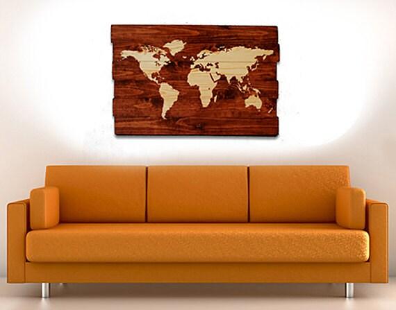 Push Pin World Map Large World Map Wall Art Map Design Wall | Etsy