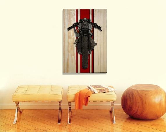 Tremendous Harley Davidson Cafe Racer Motorcycle Wall Art On Solid Wood Boards 17 X 11 Biker Sign Uwap Interior Chair Design Uwaporg