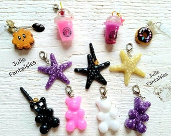Charms * Anti-dust smartphone plugs * Resin charms